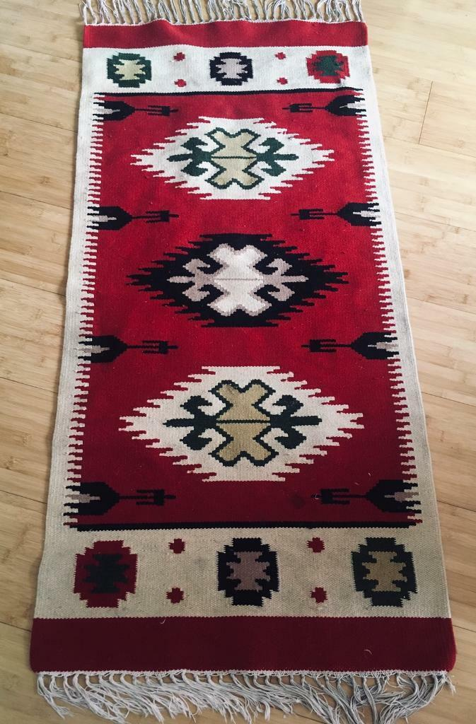 Kilim Rug Antique Navajo wall hanging