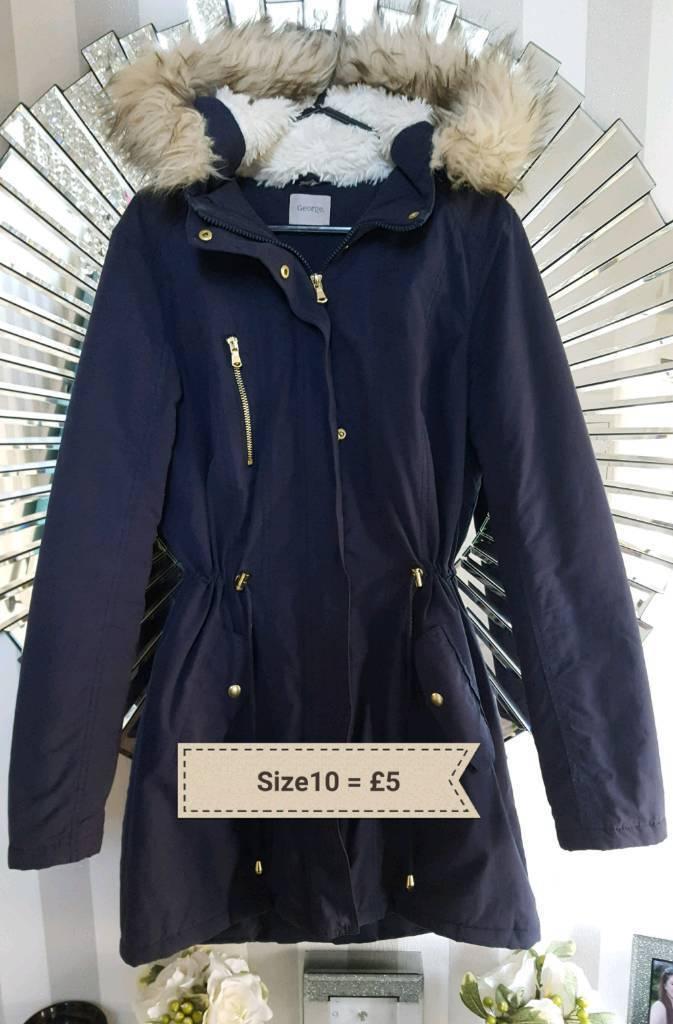 Size10 Ladies Winter Jackets