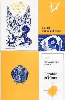Nauru 1978 both Presentation Packs Definitives and Commemoratives Mint