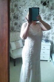 Beautiful blush beaded dress size 14/16