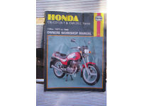 honda cb/cd125t-cm125 c twins 1977 to 1988 owners workshop manual