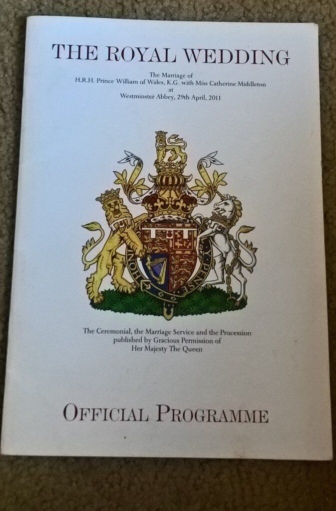 The Official Royal Wedding william and kate programme