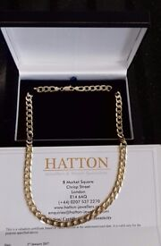 9ct solid gold curb chain
