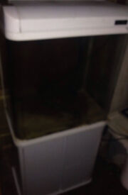 ALL POND SOLUTIONS 130 LITRE FISH TANK & WHITE CABINET & FILTER HEATER LIGHT - DELIVERY 07544000786
