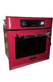 Baumatic BOR600RD Built In Retro Electric Single Oven - Red