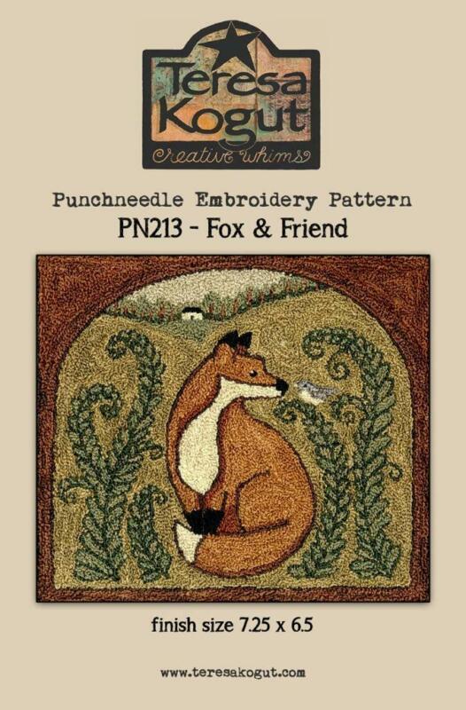 Fox & Friend PN213 Punch Needle PunchneedleTeresa Kogut Pattern