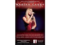 Two Mariah Carey tickets, 11th December for London's O2 - Floor level : )