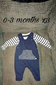 Dungeree set 0-3 months