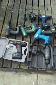 Job lot 7 cordless drills