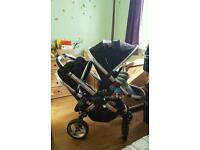 ICandy Peach Blossom 2 black magic double pushchair+cot