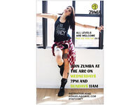 Zumba Fitness classes with disco lights in Glasgow city centre