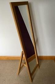 Solid Oak Tall Bedroom/Dressing Mirror (from Next)