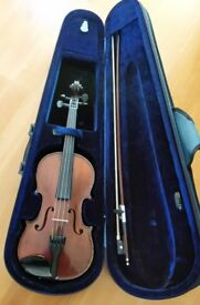 JTL MÉDIO FINO FRENCH VIOLIN, CIRCA 1900 - 3/4 SIZE; + Bow + Hard Case