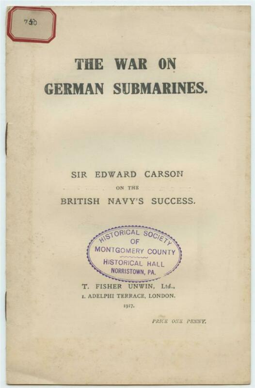 The War on German Submarines British Navy