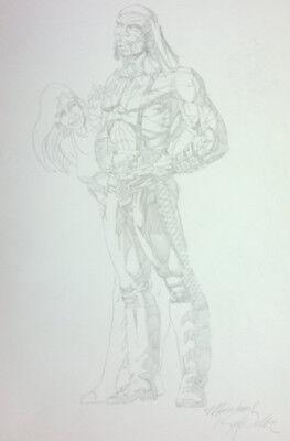 "MOTORHEAD by SHI artist  Karl Waller (1995) Dark Horse Comics 11x17"" pencil art"
