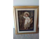 Vintage 3D picture and vintage frame