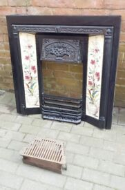Stovax Victorian Cast-Iron Tiled Fireplace front. Used but in great condition.