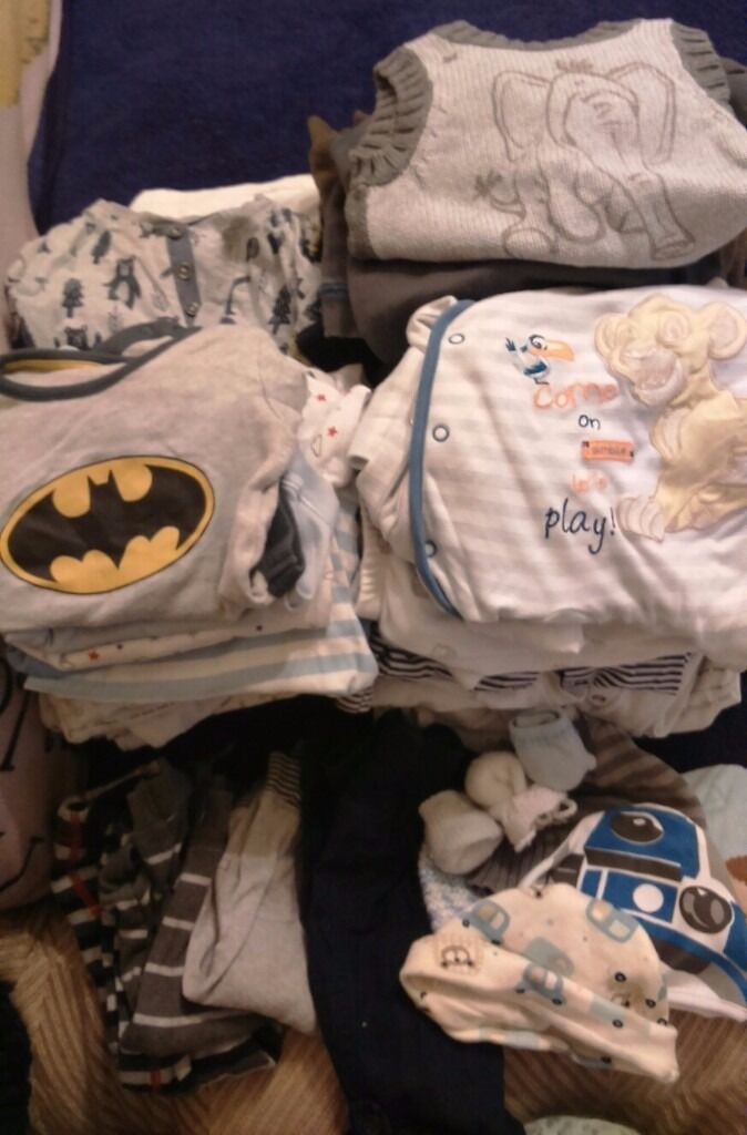 Baby clothes 3 6 monthsFREEin South Kirkby, West YorkshireGumtree - Large bundle of unisex and baby boy clothes, includes vests, obesity, tops, trousers, hats and jumpers. Mainly 3 6 months with the odd few 0 3 months. Free to collect, need gone asap. Please text if interested, please do not call. Thanks