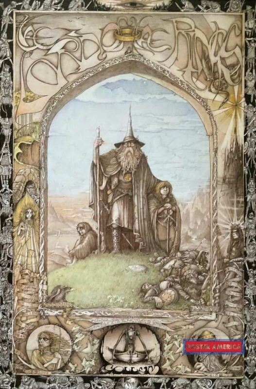 Lord Of The Rings Art Poster 1988 23 x 35