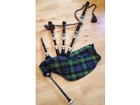 Bagpipes - Inveran INV2a Hand-Turned African Blackwood Bagpipes and Chanter