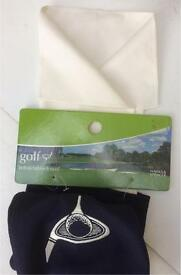 GOLF BNWT M&S RETRACTABLE GOLF TOWEL ULTRA-ABSORBENT IN CLIP ON COVER