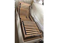Single ( 1/2 kingsize) Adjustable Sleepeezee Electric Bed Frame