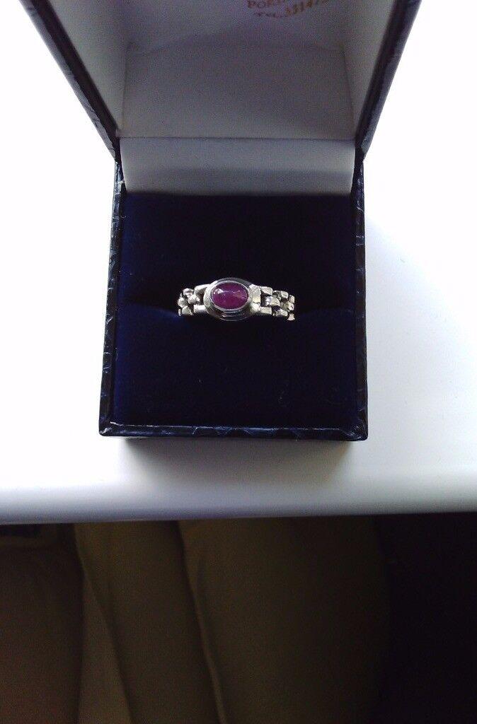 Unusual ladies silver ring