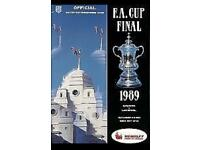 1989 FA Cup Final Program Liverpool v Everton (mint condition)