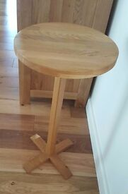 Solid Oak Side Lamp Table