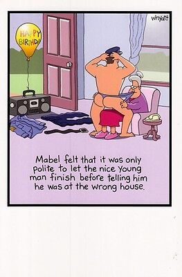 Funny Mabel Stripper Birthday Greeting Card Traces Of Nuts Humour Cards