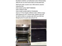 Neff Oven (no hob) superb cond. Reduced quick sale