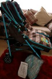 Double pram IMMACULATE BARELY USED