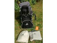 Vaude rucksack carrier for baby / toddler with rain covers