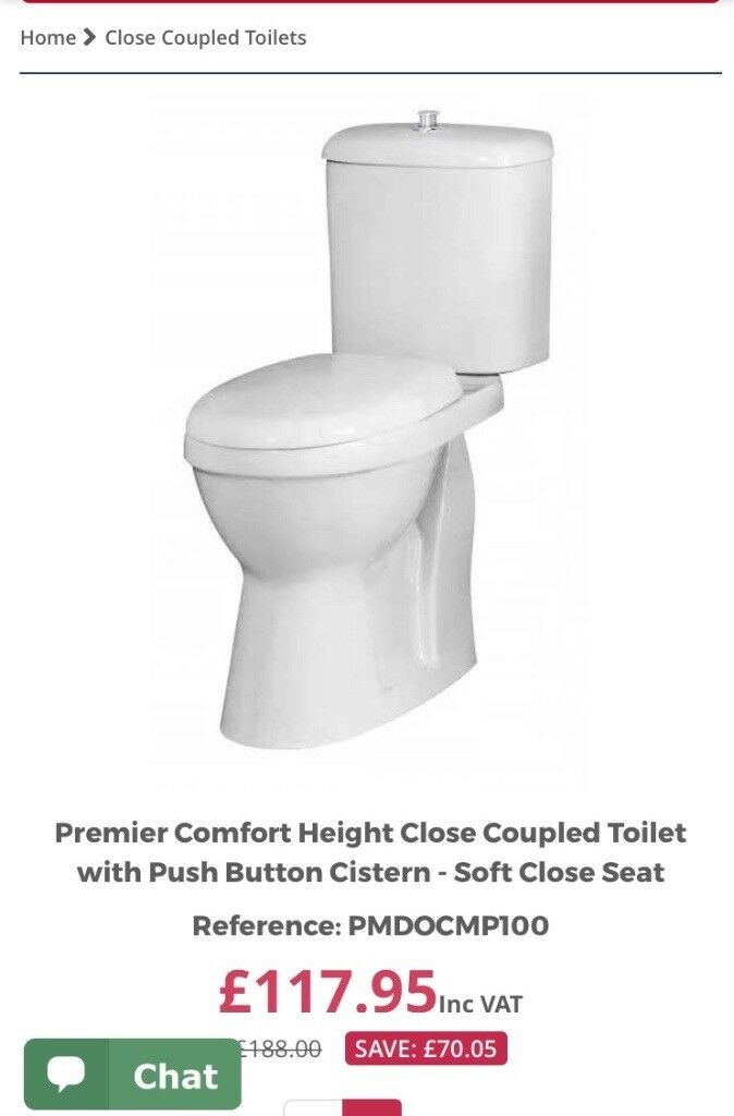 High seat toilet brand new. Does not use as it didnt fit in ...
