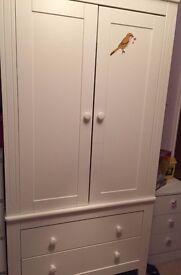 White Paul Strides Nursery Wardrobe
