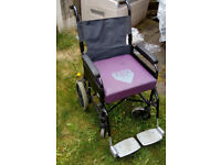 Foldable attendant WHEELCHAIR
