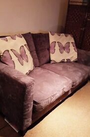 Good Quality 3 Seater Purple Butterfly Sofa (DFS) Best offer accepted