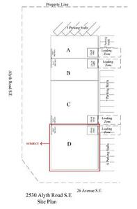 Office/warehouse for lease - #D, 2530-Alyth Road SE