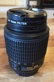 Nikon 55/200 F4-5.6G ED DX Zoom Lens - Great condition with 52mm UV filter and soft pouch