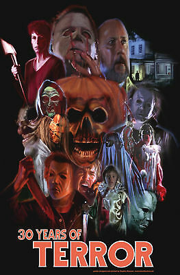 Halloween 30 Years Of Terror Poster (RARE HALLOWEEN: 30 YEARS OF TERROR ORIGINAL MOVIE POSTER 2008 Michael Myers)