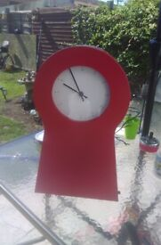 Ikea clock with storage wall hang or free standing