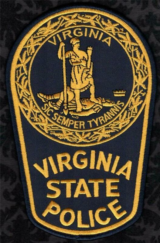 👀👀😎😆👍   Virginia State Police Police Shoulder Patch Black/Gold