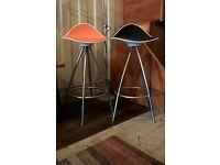 Pair of Spanish Design ONDA Bar Stools
