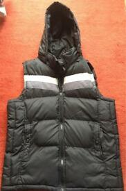 Men's Black hooded body warmer gilet size Large