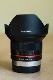 Samyang 12mm f2 for Fujifilm (Rokinon)