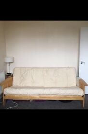 Wood frame 3 seater sofa bed