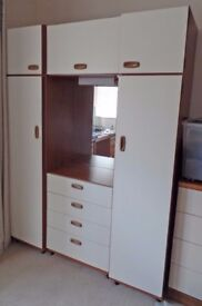 Wardrobe with mirror & drawers