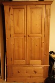 Beautiful solid pine wardrobe for sale.