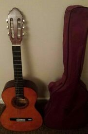 Valencia acoustic guitar with case
