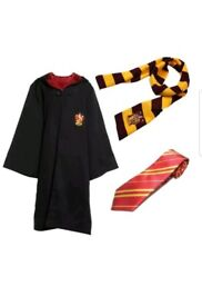 Harry Potter fancy dress set - Griffindor cloak and scarf with tie. Adult size - large.
